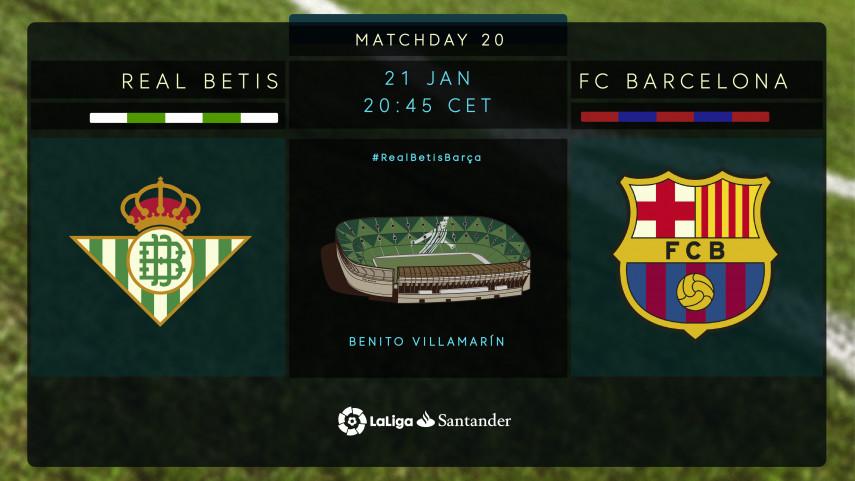 In-form Betis host unbeaten Barça