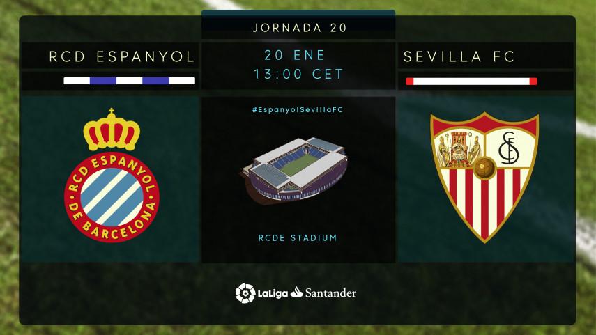 El Sevilla busca retomar el vuelo en el RCDE Stadium