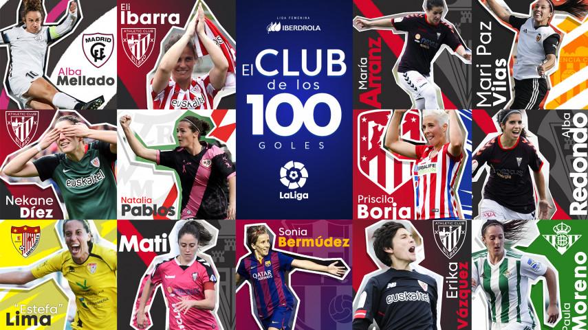 El club de los 100 de la Liga Iberdrola