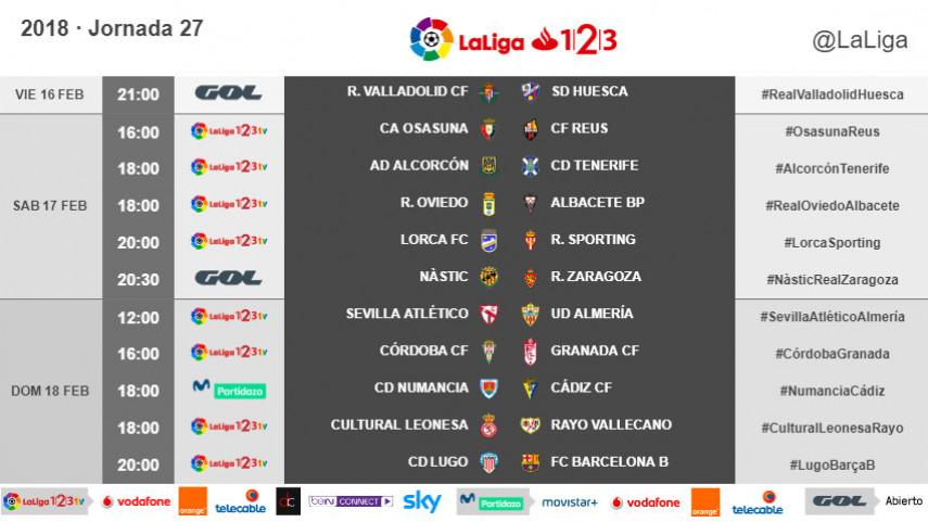 Horarios de la jornada 27 de LaLiga 1l2l3 2017/18