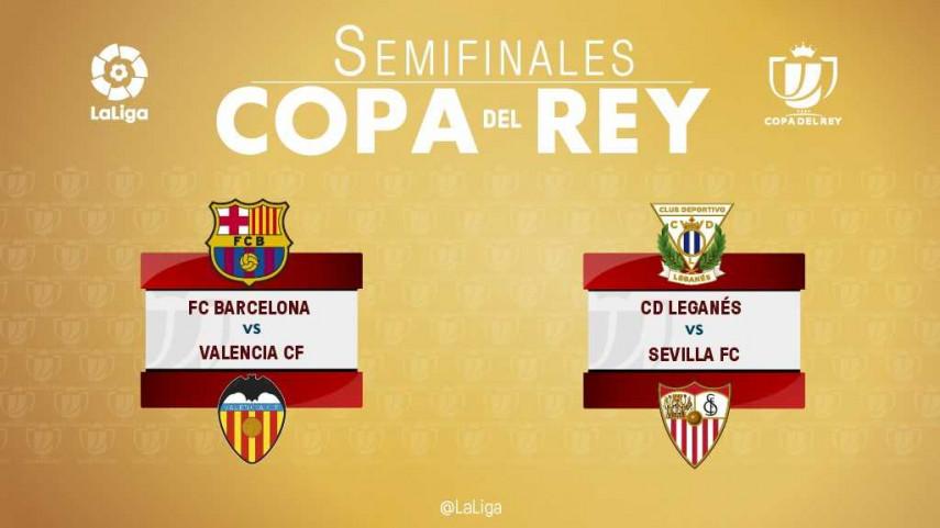 Conoce los emparejamientos de las semifinales de final de la Copa del Rey