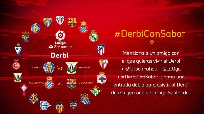 Getafe CF - CD Leganés o RCD Espanyol - FC Barcelona: ¿qué #DerbiConSabor te gustaría vivir?