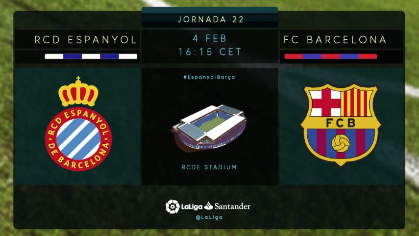 El Espanyol amenaza la condición de invicto del FC Barcelona en LaLiga Santander