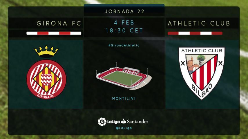 Girona y Athletic aspiran a acercarse a los puestos europeos