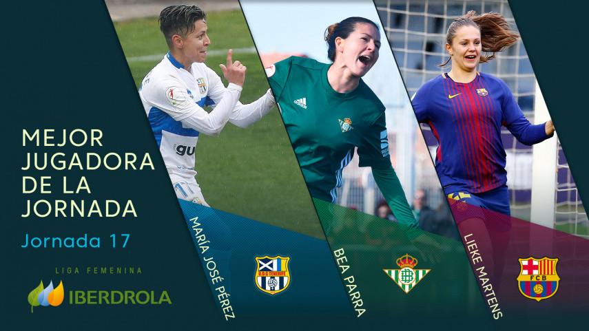 ¿Quién fue la mejor jugadora de la jornada 17 de la Liga Femenina Iberdrola?