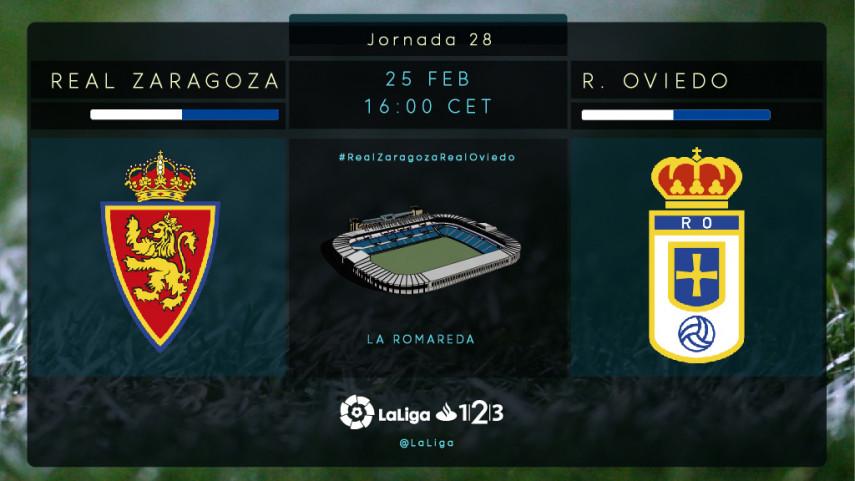 El R. Oviedo mide el buen momento del R. Zaragoza