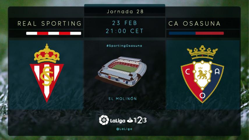 R. Sporting y Osasuna miran a los play-offs