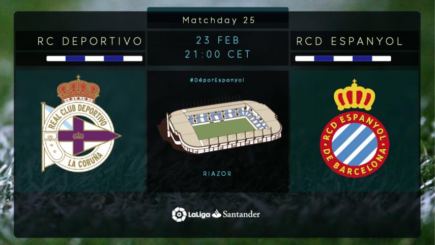 Depor and Espanyol clash at Riazor