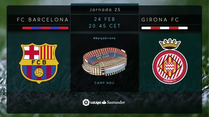 Visita histórica del Girona al Camp Nou en un atractivo derbi