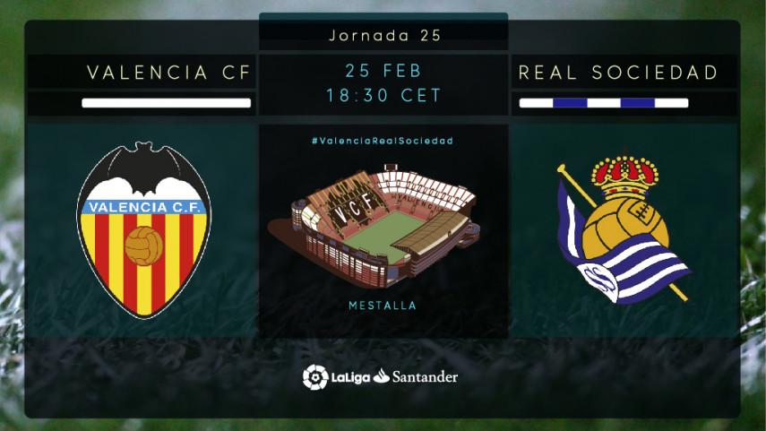 Valencia y Real Sociedad quieren mantener el paso