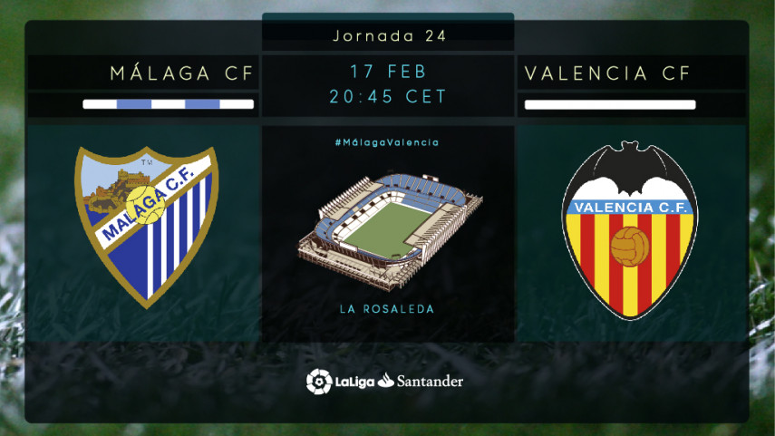 El Málaga busca cambiar de rumbo ante el Valencia