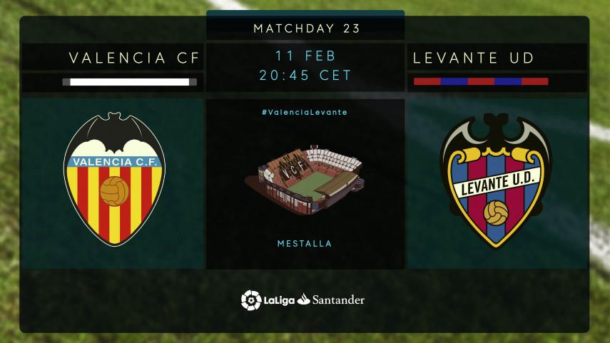 The Valencia derby returns to Mestalla