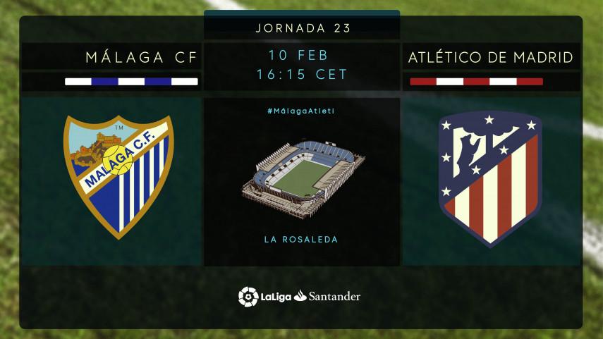 El Atlético busca meter presión al líder ante un Málaga necesitado