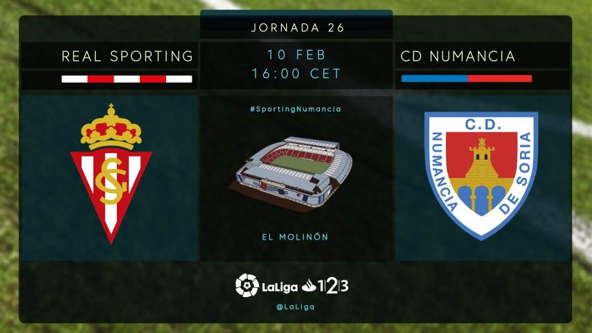 Sporting y Numancia no quieren perder el tren del play-off