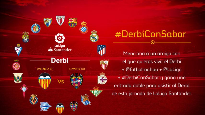 ¿Con quién quieres vivir el #DerbiConSabor entre Valencia CF y Levante UD de la jornada 23?