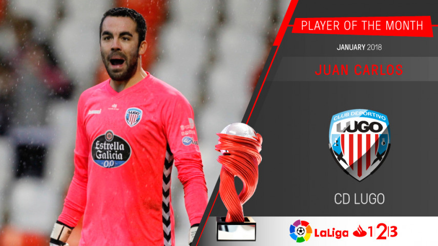 Juan Carlos named LaLiga 1l2l3 Player of the Month for
