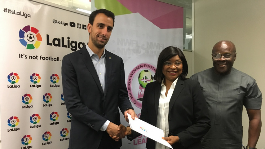 LaLiga and the Nigerian WFL collaborate to improve women's football