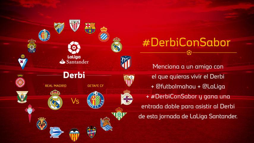 ¿Con quién quieres vivir el #DerbiConSabor entre Real Madrid y Getafe CF de la jornada 27?