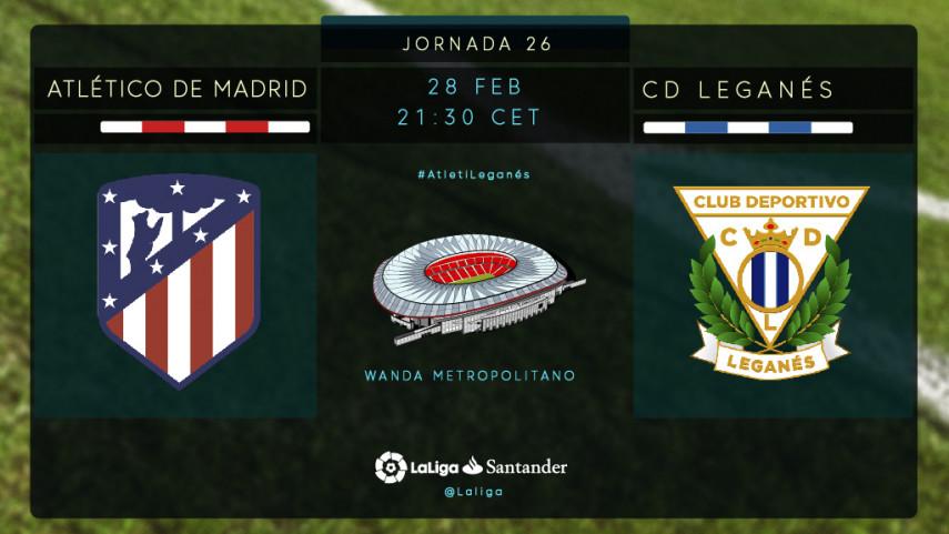 El Leganés se mide a un Atlético de Madrid en racha