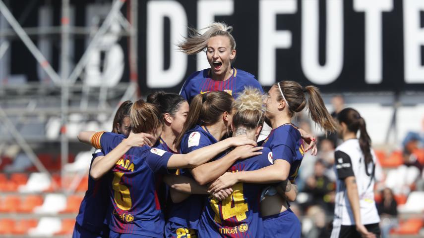 El FC Barcelona se gusta ante el VCF Femenino