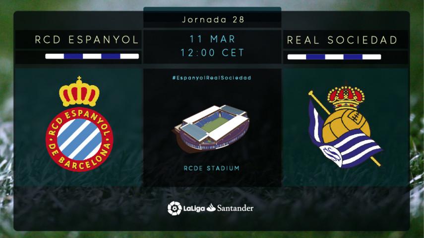 Espanyol y Real Sociedad, ante un partido clave