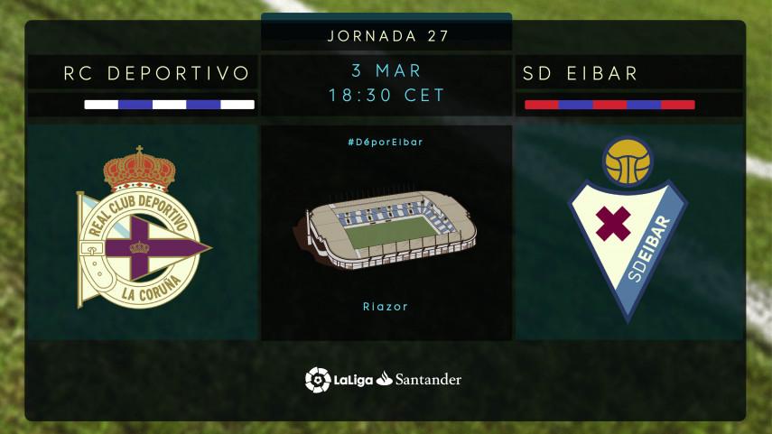 El Deportivo busca un golpe de efecto ante el Eibar