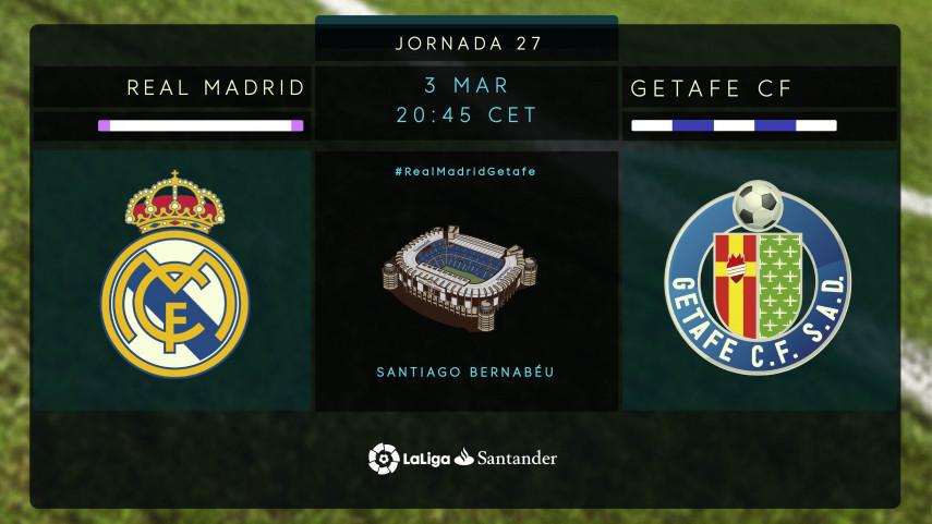 El Getafe, dispuesto a soñar en el Bernabéu