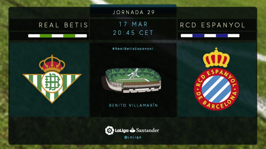 El Betis, al asalto de Europa ante el Espanyol