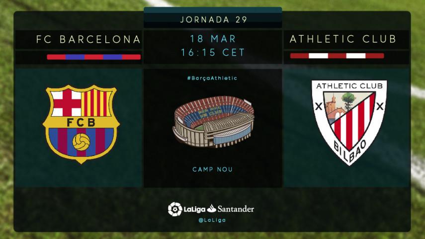 El Athletic busca redimirse en el Camp Nou