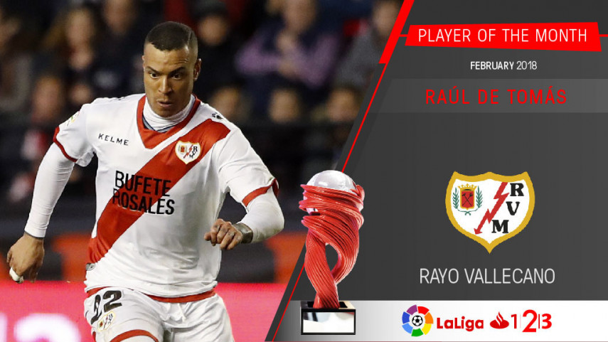 Raul de Tomas named LaLiga 1l2l3 Player of the Month for February