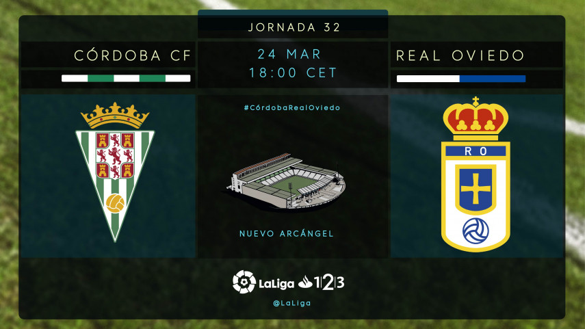El Real Oviedo pone a prueba la capacidad de reacción del Córdoba