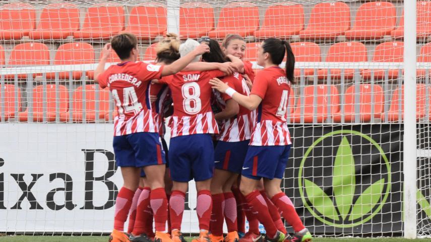 El At. Madrid femenino no falla ante el Betis