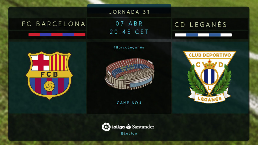 El CD Leganés amenaza la racha del FC Barcelona