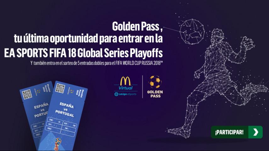 McDonald's lanza entre sus consumidores el torneo Golden Pass para ganar un pase directo a la gran final de la McDonald's Virtual LaLiga eSports
