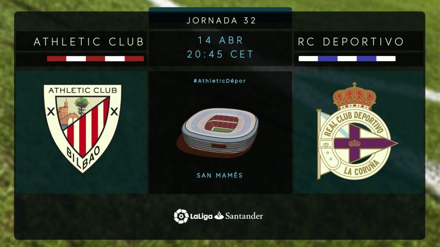 Athletic y Deportivo buscan sus objetivos en San Mamés