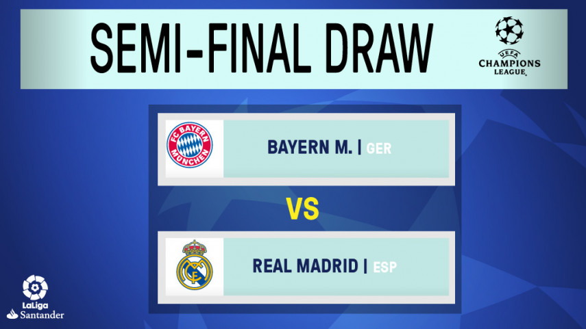 Real Madrid face Bayern Munich in the Champions League semi-finals