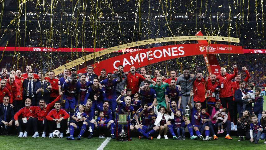 El FC Barcelona conquista su cuarta Copa del Rey consecutiva