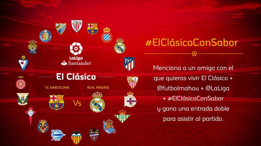 ¿Con quién quieres vivir el #ElClásicoConSabor de la jornada 36?