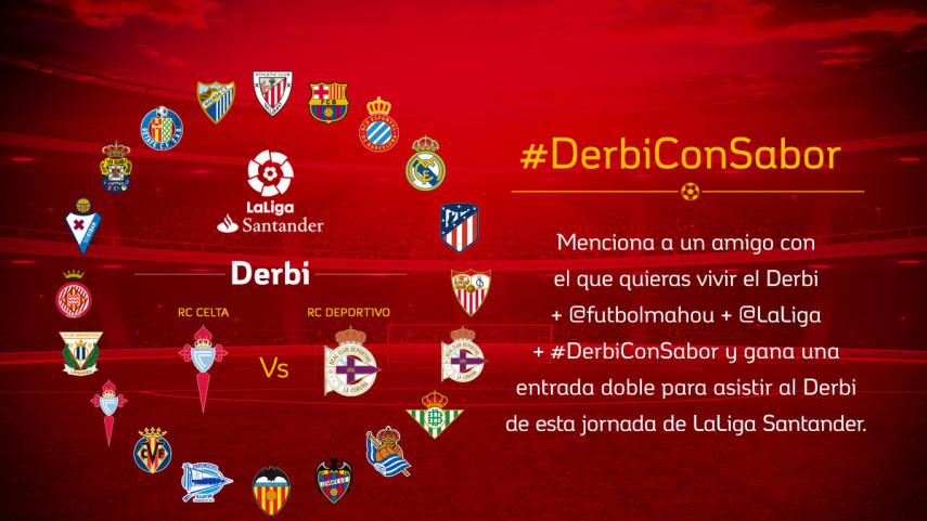 ¿Con quién quieres vivir el #DerbiConSabor de esta jornada entre RC Celta y RC Deportivo?