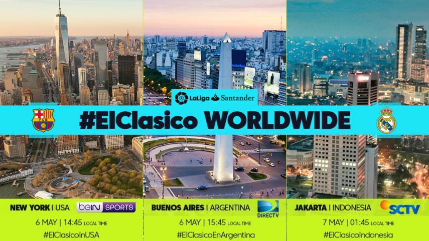 Los aficionados de LaLiga latirán con #ElClásico por todo el mundo