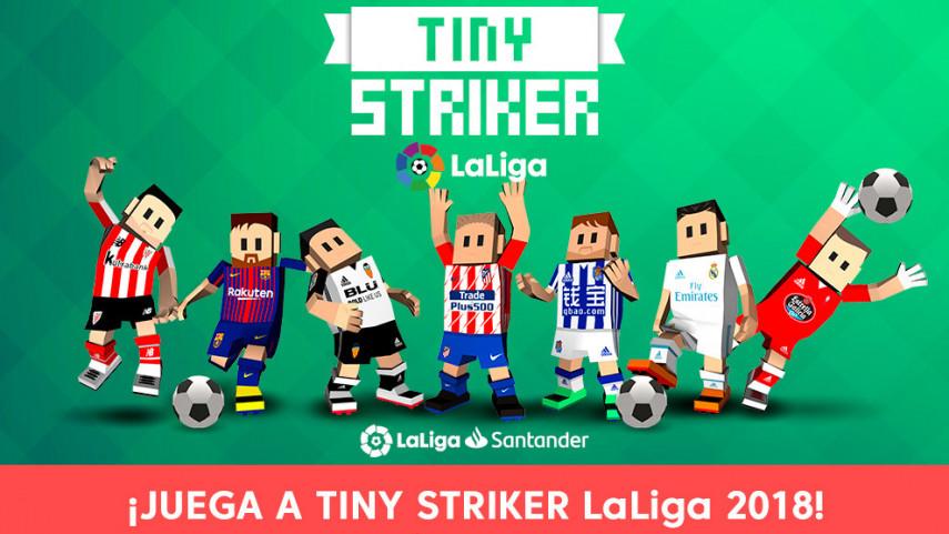 Hazte ya con Tiny Striker, el nuevo juego de LaLiga