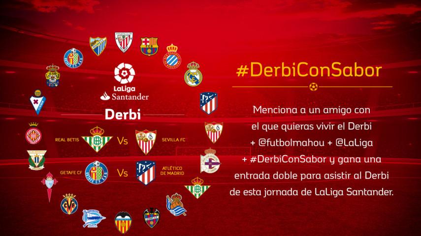 Real Betis - Sevilla FC o Getafe CF - Atlético: ¿Qué #DerbiConSabor te gustaría vivir?