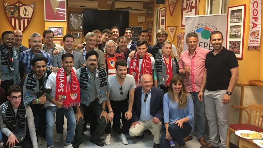 La Peña Sevillista Al Relente ejerce de anfitrión para LaLiga Santander Experience
