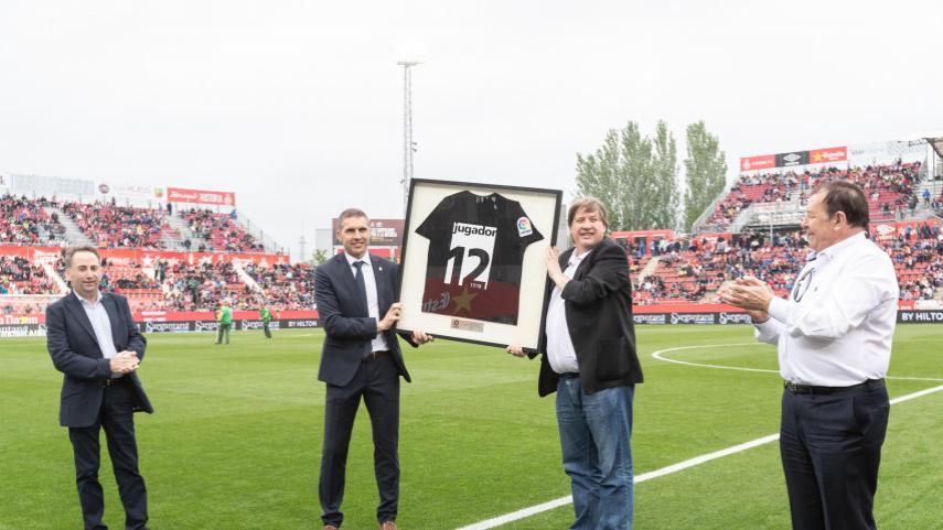 La afición del Girona recogió el premio como mejor afición de LaLiga Santander 2017/2018