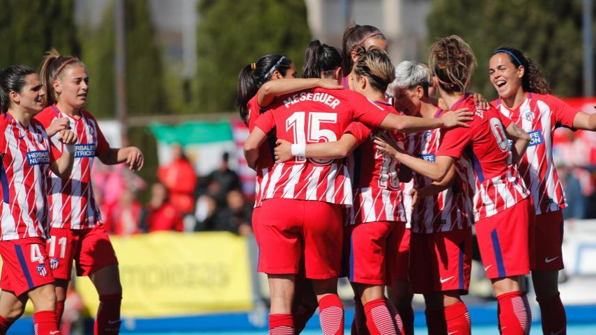 Así fue la goleada que le dio el título al Atlético de Madrid Femenino