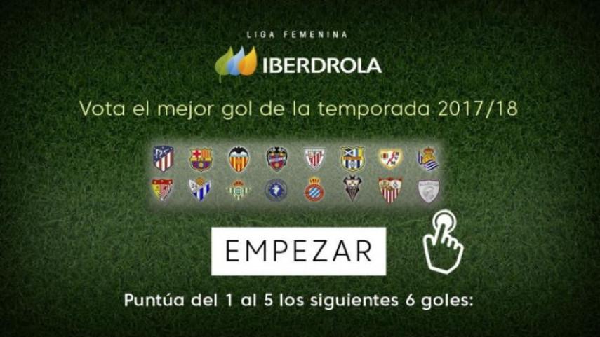 Vota por el mejor gol de la Liga Iberdrola 2017/18