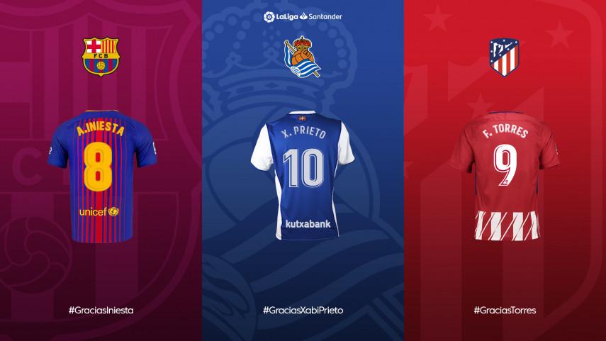 Elige el mejor momento de Iniesta, Torres o Xabi Prieto en LaLiga Santander y gana su camiseta