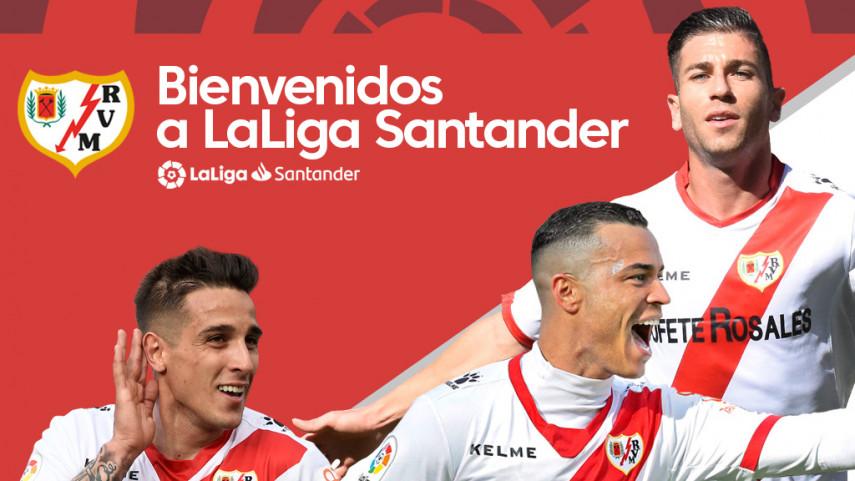 El Rayo Vallecano celebra su regreso a LaLiga Santander