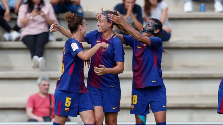 El FC Barcelona vence por la mínima en la ida de cuartos de Copa de la Reina