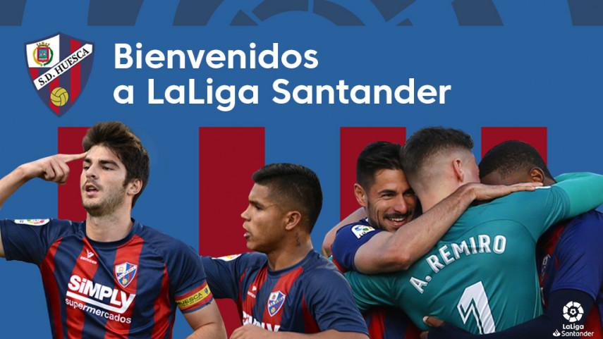 La SD Huesca firma un ascenso histórico